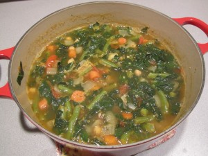 Mustard Among Carrot Of Diet Vegetable Soup With Cumin Also Paprika